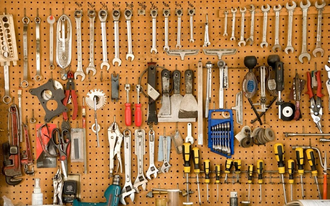 Pegboard is a useful tool for garage storage